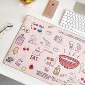 韓國小清新卡通超大小清新鼠標墊桌墊辦公桌面墊寫字板鼠標墊餐墊-ifashion