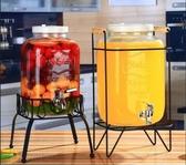 復古無鉛玻璃壺開關瓶果汁罐冷飲冷水壺大容量不耐熱水龍頭飲料桶 解憂雜貨店