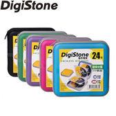 ◆優惠包◆免運費◆DigiStone 光碟片收納包 冰晶 漢堡盒 24片裝 CD/DVD硬殼拉鍊收納包x5個
