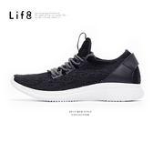 Sport 輕量 透氣針織 襪套式 二代3D彈簧運動鞋-黑色【09787】
