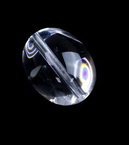 [協貿國際]天然白水晶桶珠戒面DIY手工飾品配件(6入價)