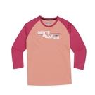 KAPPA義大利小朋友吸濕排汗速乾彩色圓領長袖衫 莓紅 桃粉~3114E9WA0A