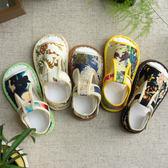 寶寶涼鞋男童女童兒童手工千層底布鞋嬰幼兒包頭軟底防滑學步鞋 桃園百貨