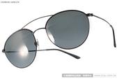GIORGIO ARMANI 太陽眼鏡 GA6032J 300187 (黑) 摩登經典圓飛官款 # 金橘眼鏡