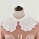 假領子襯衫穿搭假領片 雪紡紗大領子針織衫大學T外套[E1681]滿額送愛康衛生棉預購.朵曼堤洋行