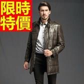 真皮羽絨外套-大方防風日系羊皮男皮衣夾克3色62w53【巴黎精品】
