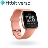 FITBIT VERSA 智能運動手錶 經典款(玫瑰金框桃紅錶帶)