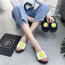 夏時尚外穿平跟韓版學生高跟室內卡通一字涼拖鞋潮ABS-4