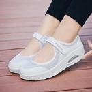 搖搖鞋 夏季新款帆布鞋女厚底中老年人透氣網鞋淺口增高搖搖鞋老北京布鞋寶貝計畫 上新