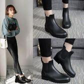 雨鞋女短筒雨靴成人防水套鞋韓國低筒膠鞋防滑切爾西水鞋   可然精品鞋櫃