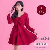大碼仙杜拉-神美聚焦超顯瘦洋裝L-5XL碼 ❤【WM659】
