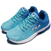 FILA 慢跑鞋 J908R 藍 白 漸層 運動鞋 透氣舒適 基本款 女鞋【PUMP306】 5J908R331