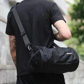 籃球包運動健身包分離單肩斜跨包男士圓筒籃球足球訓練包女水桶包旅行包