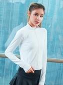 瑜伽服 修身顯瘦瑜伽服女秋冬新款拼色大碼透氣速干運動外套跑步健身上衣 薇薇