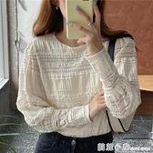 2020秋季新款韓國chic法式小眾仙氣優雅泡泡袖重工蕾絲衫上衣女 蘇菲小店