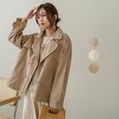 現貨-MIUSTAR 雙排釦騎士感斜紋布外套(共3色)【NJ0566】