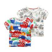 兒童T恤夏季男 寶寶印花上衣休閒半袖夏季新款童裝 男童T恤短袖 森活雜貨