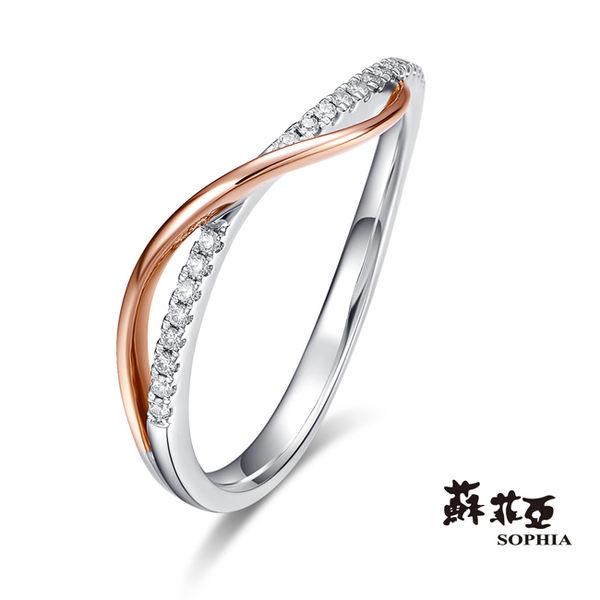 蘇菲亞SOPHIA - 雙色交織0.07克拉鑽石戒指