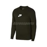 Nike 長袖T恤 NSW Long Sleeve Tee 綠 白 男款 圓領 運動休閒 【PUMP306】 CI6215-355