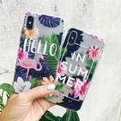 【SZ34】卡通粉色火烈鳥氣墊防摔殼 iphone 8 plus手機殼 iphone 6s plus 手機殼XR iphone xs max 手機殼