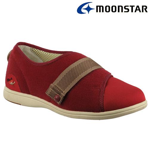 日本【MOONSTAR】Pastel 405健康照護介護鞋 - 酒紅(4E超寬楦)