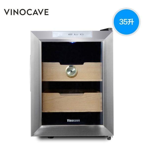 Vinocave/維諾卡夫 SC-12AH 煙櫃 電子恒溫雪茄機 茶葉櫃igo    電購3C