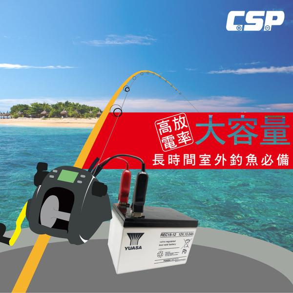 HI-POWER、DAIWA、MIYA 電動捲線器專用電池 + 配件組 (REC 12V15AH)(REC15-12)