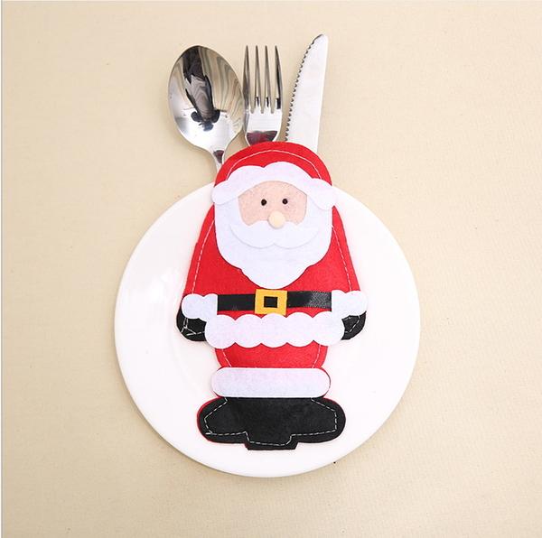 新款聖誕裝飾品 新款聖誕老人刀叉套 聖誕桌面裝飾─預購CH2580