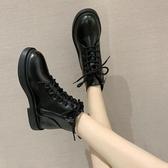 短靴秋季顯腳小馬丁靴女夏季薄款潮ins新款英倫風網紅瘦瘦短靴子(免運速發)