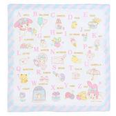 Sanrio美樂蒂日本製純棉手帕(一起來學ABC)★funbox生活用品★_075761
