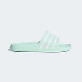 Adidas Adilette AQUA [F35535] 女 涼鞋 拖鞋 運動 休閒 海灘 游泳 戲水 湖水綠 愛迪達