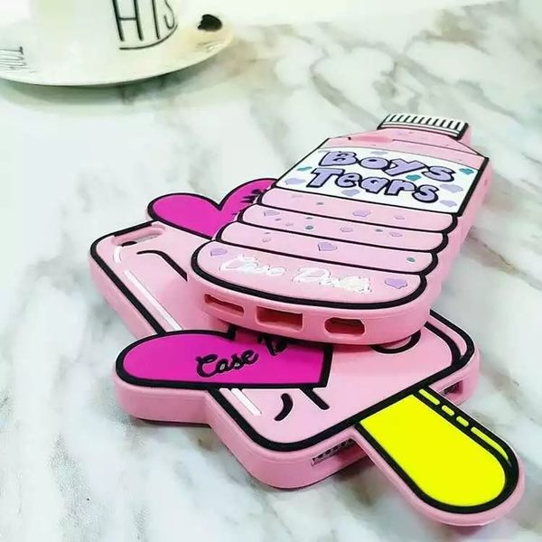 【SZ24】 iphone 6 plus手機殼 iPhone 7/8 瓶子冰棍矽膠保護套 iphone 6s 手機殼