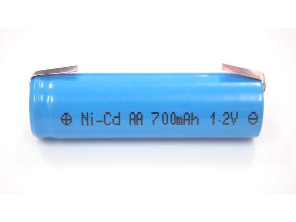 全館免運費【電池天地】P70AS-700AA 700mah 1.2V 鎳鎘充電電池 工業用電池 (刮鬍刀.電剪用電池)