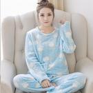 居家服女珊瑚絨睡衣組女冬可愛正韓甜美秋冬季法蘭絨長袖加厚可愛家居服套組