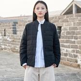 冬款棉麻棉衣女裝文藝復古盤扣夾棉加厚棉服短款夾克小棉襖暖