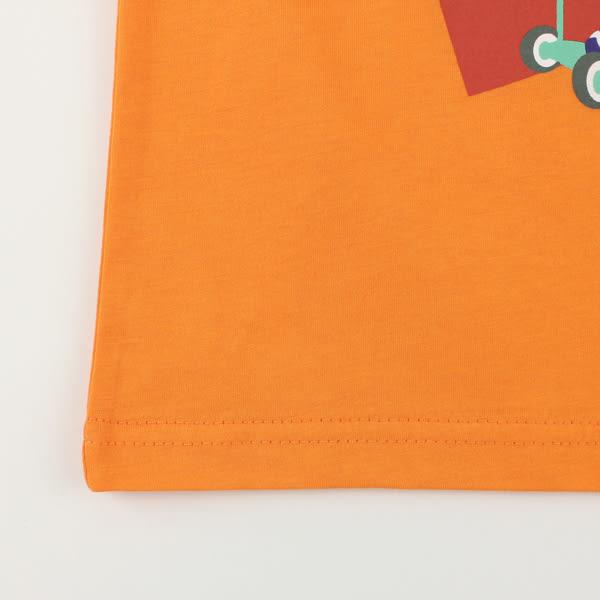 【愛的世界】純棉圓領條紋袖口短袖T恤/4~6歲-台灣製- ★春夏上著