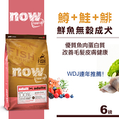 【SofyDOG】Now! 鮮魚無穀天然糧 成犬配方(6磅)狗飼料 狗糧