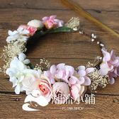 頭飾 韓式新娘永生花頭飾 潮流小鋪
