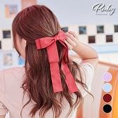 髮飾 緞面蝴蝶結彈簧髮夾-Ruby s 露比午茶