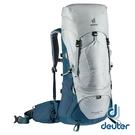 【德國 deuter】AIRCONTACT LITE 拔熱式透氣背包40+10L『銀白/深藍』3340321 大背包 背包客