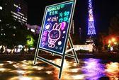雙十一秒殺電子熒光板62 110廣告板發光板寫字板 led熒光板 手寫板 熒光黑板   巴黎街頭