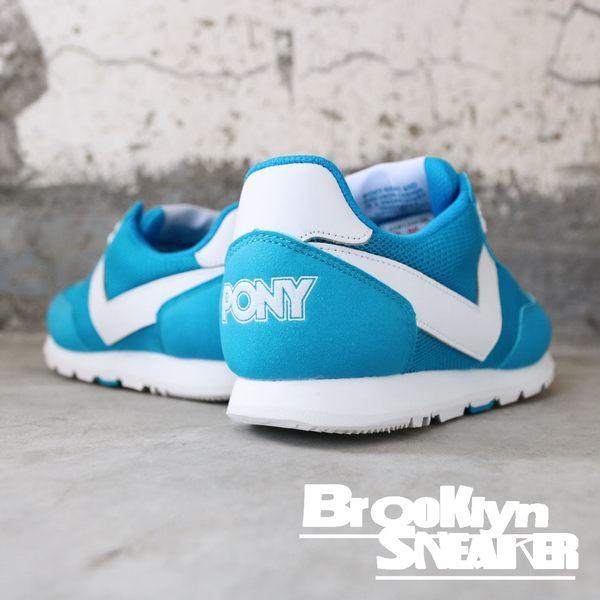 PONY 藍 白  基本款 慢跑 休閒 透氣 女生 (布魯克林) 62W1SO63BL