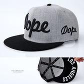 平沿帽 DOPE 時尚板帽 棒球帽/潮帽 hiphop嘻哈街舞帽 美式街頭風【NH268】