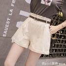 休閒短褲 休閒短褲女夏季薄款2021年新款時尚卷邊外穿寬鬆百搭高腰闊腿褲子 618購物節