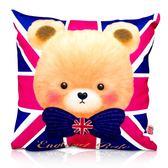 英國貝爾-紳士貝爾抱枕(30x30cm)