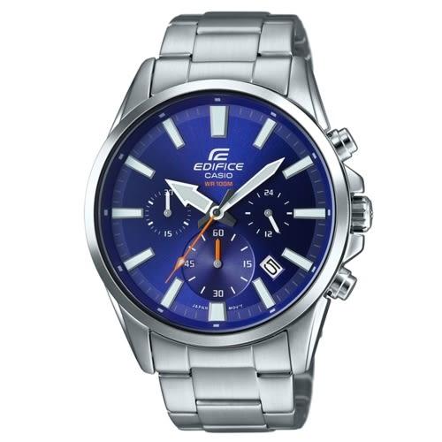 CASIO EDIFICE酷炫寶車三眼計時腕錶/EFV-510D-2AVUDF