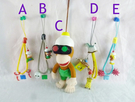 【震撼精品百貨】Curious George _好奇的喬治猴 ~手機吊飾-蝦/骷魯頭/馬/刺球/望遠鏡娃【共1款】