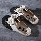 懶人鞋 包頭半拖鞋2020新款拖鞋女夏季平底無后跟涼拖