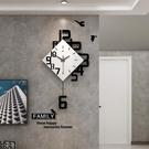 北歐創意鐘錶掛鐘客廳家用時尚裝飾現代簡約大氣個性藝術時鐘掛墻  【端午節特惠】