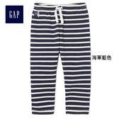 Gap女嬰幼童 條紋舒適休閑長褲 400010-海軍藍色